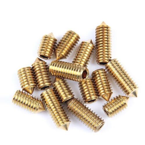 Allen Hex Socket Set Screw DIN 914 M3 M4 M5 M6 Brass Cone Point Grub Screws