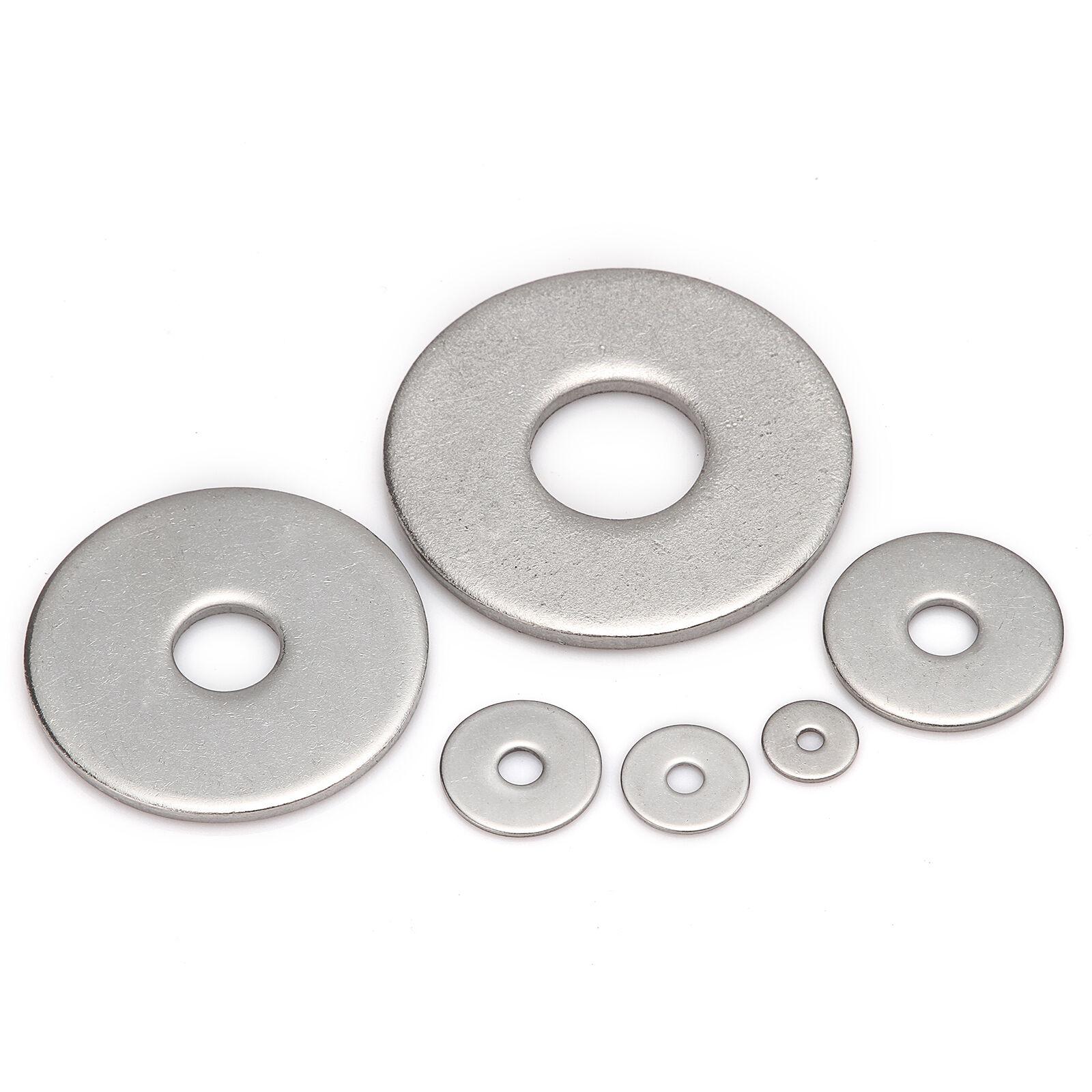 M3 M4 M5 M6 M8 M10 M12 M14 M16 M20 A2 Stainless Steel Penny Repair Flat Washers 5