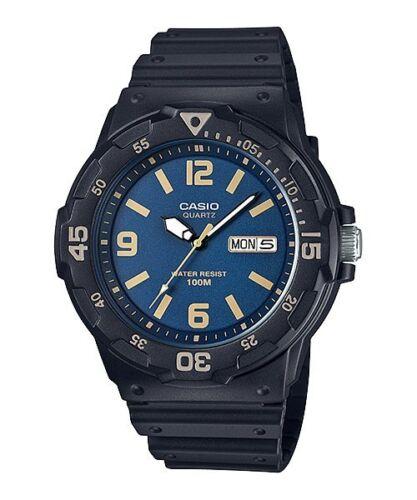 1 of 1 - MRW-200H-2B3 Black Casio Men's Watches Resin Band Analog New