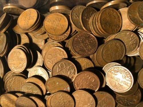 100 coins 20 Centavos Copper coins Portugal Great Opportunity