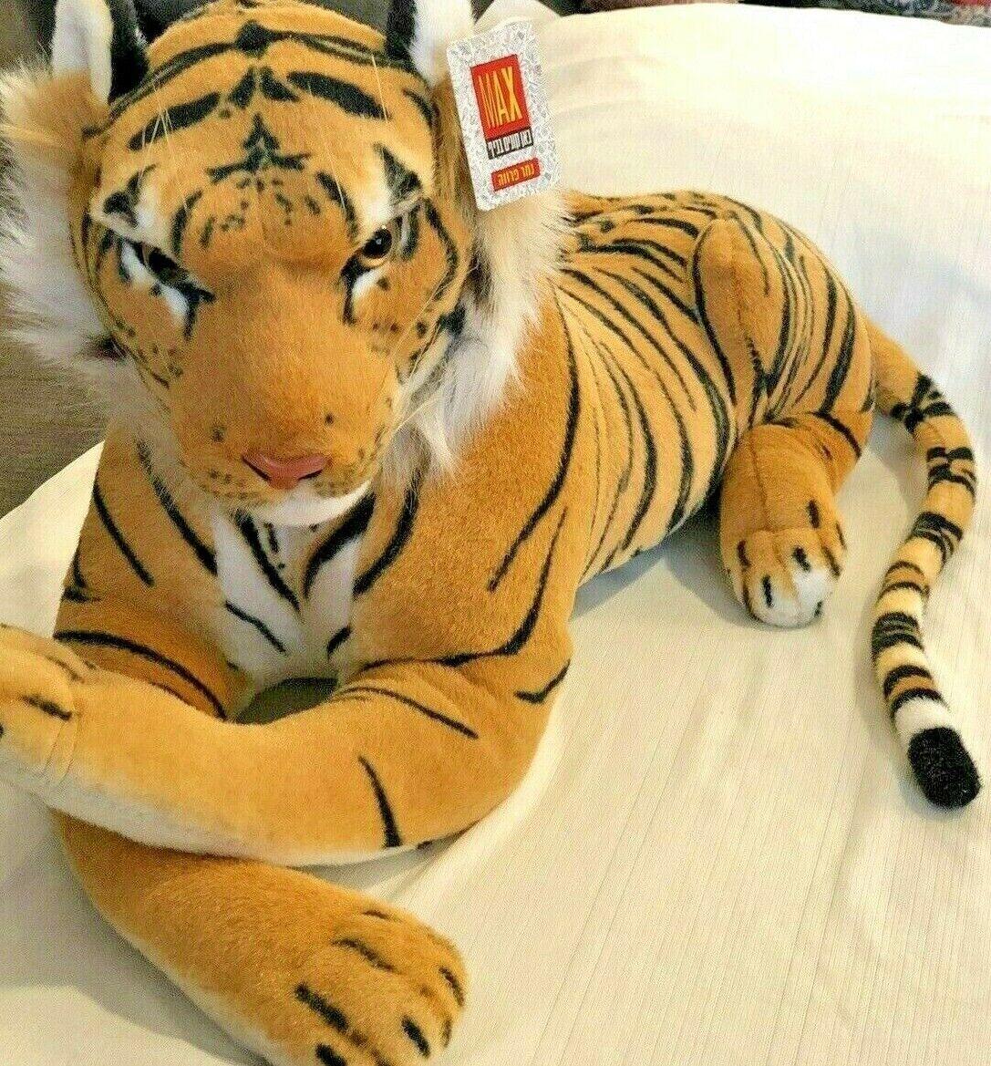Large TIGER Plush Toy Stuffed Animal Doll Pillow LIFE LIKE  NWT GLOBAL