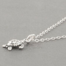 Mini BABY SEA TURTLE Charm Pendant  925 STERLING SILVER &  Necklace Tiny! cute!