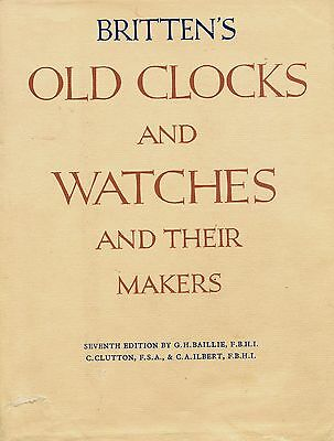 Precise Antique Watches Clock History Types Makers Dates Scarce In-depth Book