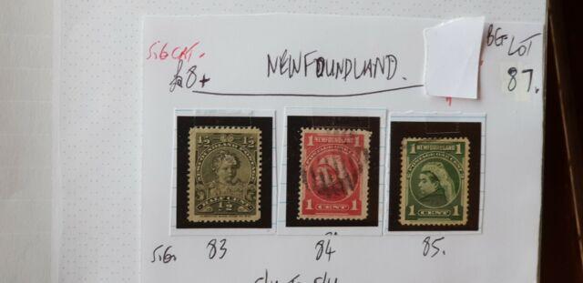 3x NEWFOUNDLAND 1890s STAMPS g/u to f/u see photo