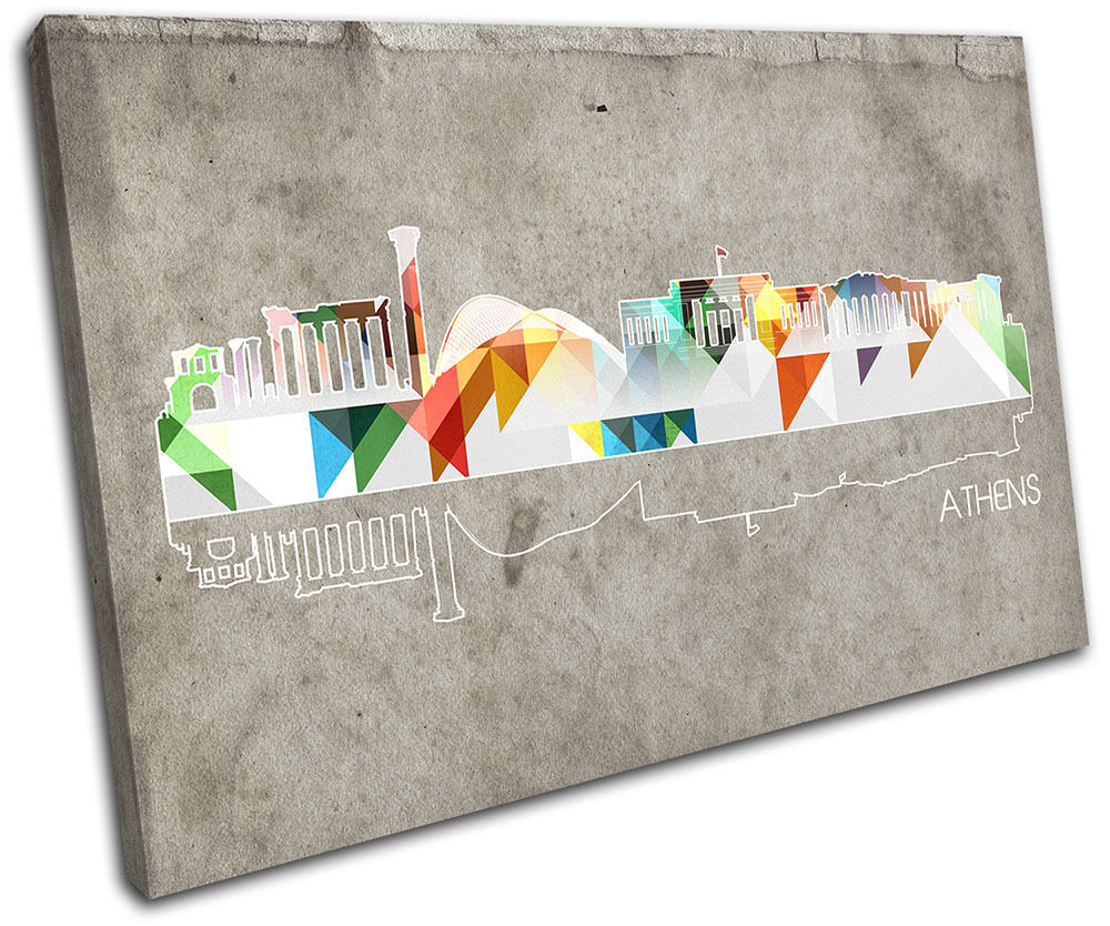 Athens Geometric City SINGLE TELA parete parete parete arte foto stampa 86c982