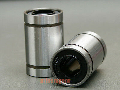 6 Pcs 12 mm LM12LUU Motion Liner Ball Bush Bushing Ball Bearing LML Series CNC