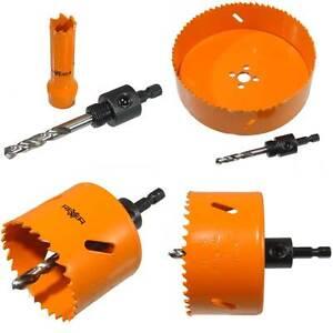 HSS-Bimetal-Universal-Lochsaegen-14-160-mm-mit-Aufnahmeschaft-fuer-Holz-Metall