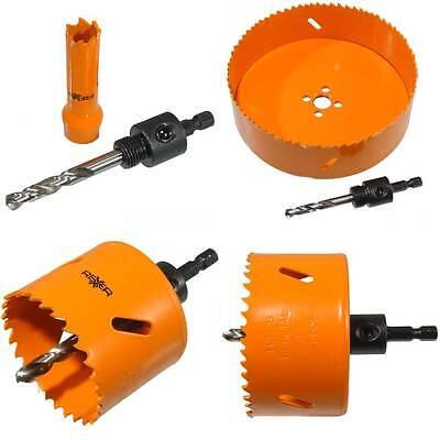 HSS Bimetal Universal Lochsägen Ø 14-160 mm mit Aufnahmeschaft für Holz Metall
