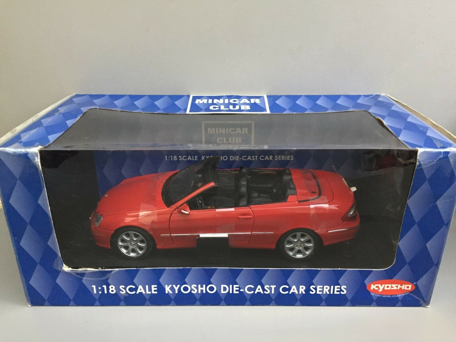 Kyosho 1 18 Mecedes Benz CLK Cabriolet Rouge (rouge) Minicar Club