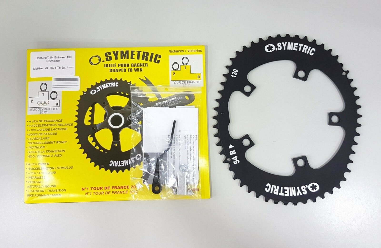 Osymetric BCD 130mm 5 Bolts 54T  Alloy Road Bicycle Chainring  large selection