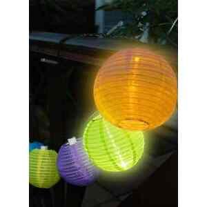 Mini solaire lanternes chinoises jardin éclairage pack de 10 couleurs vives lumières  </span>