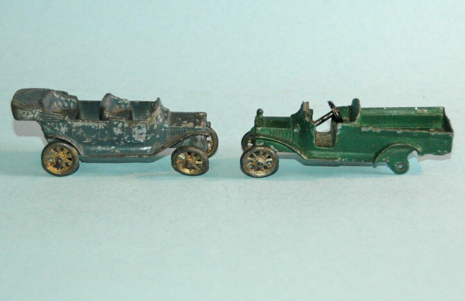 2 Jahr original DOWST TOOTSIESpielzeug USA 1915 FORD Modelll T TOURER 1916 PICK UP