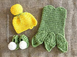 Crochet Newborn Tinkerbell Costume