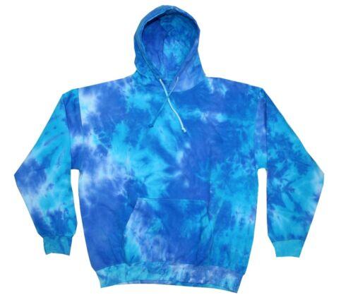 Tie Dye Multi-Color Hoodie Long Sleeve Kids XS 2-4 Cotton Pockets No Zipper