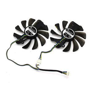 95mm-gpu - refroidisseur ventilateur carte graphique pour ZOTAC GeForce GTX 1080 1070 AMP Edition MS