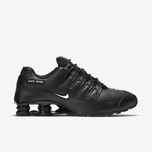 94b603c8e3a New Nike Men s Shox NZ EU Running Shoes (501524-091) Black  White ...