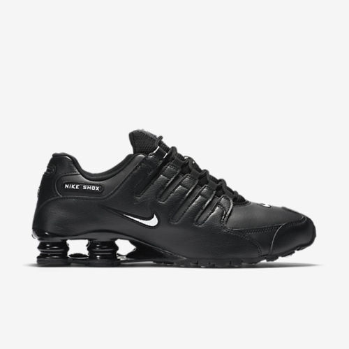 uk availability 324e1 2a267 New Nike Men's Shox NZ EU Running Shoes (501524-091) Black // White-Black