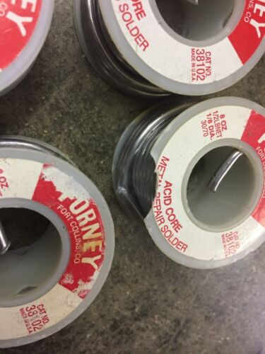 "Commercial Acid Core 1//8/"" 5# Forney 38102 Solder"