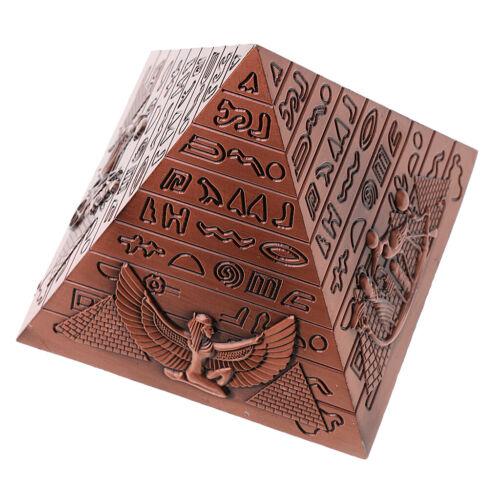 Modèle de Pyramide Egyptienne Statue Figurine Métal Objets de Décoration
