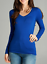Women-PLUS-Long-Sleeve-V-NECK-T-Shirt-Active-Basic-Cotton-Layering-1XL-2XL-3XL thumbnail 12