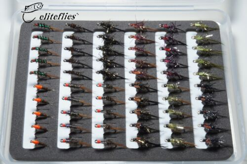 eliteflies 60 Competition Diawl bach box fly fishing flies nymphs trout lake