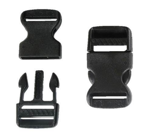 32mm Black Plastic Side Quick Release Buckle Clip Cord Strap Backpack Bag RE
