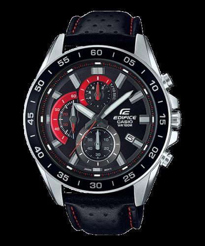 Casio-Edifice-EFV-550L-1A-Men-039-s-Chronograph-Leather-Band-Analog-Watch
