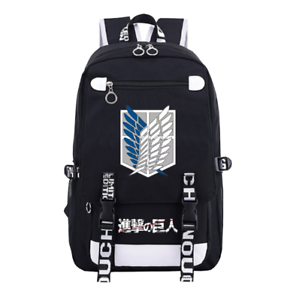 Anime Attack on Titan Student School Backpack Canvas Rucksack Schulranzen