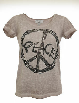 Rick Cardona T-shirt Femmes Strass Chemisier tunique manches courtes poudre Taille 34 070851