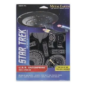 Metal Earth STAR TREK U.S.S ENTERPRISE 3D Laser Cut Steel Model Kit NCC-1701-D