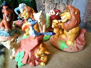DISNEY LION KING, SIX (6) BRAND NEW LIL CLASSICS VINTAGE PVC FIGURINES, MINT