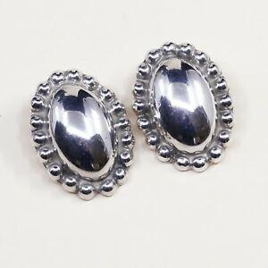 Mexican sterling clip-on vintage earrings