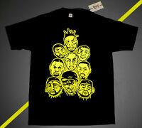 Fnly94 Optic Yellow Wutang Foamposite Shirt Wu-tang Zombies Vtg Rap M L Xl