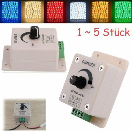 LED Dimmer 12V 8A Regler Helligkeitsregler LED Streifen Lampe Licht Controller