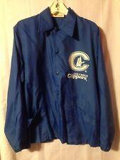 Vintage 1980's Columbus Clippers Blue Nylon Ushers Snap Jacket, Large
