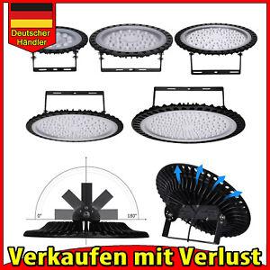 50W-500W UFO LED Hallenleuchte Highbay Industrielampe Hallenbeleuchtung Fluter