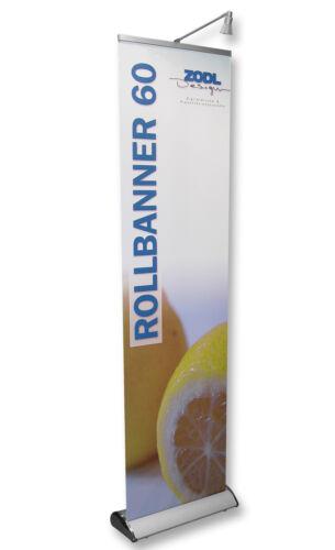 Rollbanner 60cm x 220cm Neu Banner Werbedisplay Aufsteller Werbebanner Display