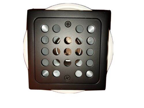 "Monogram Brass 4-1//2/"" Square Shower Drain in Matte Black MB6008MB"