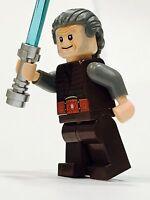Lego Star Wars Jedi Custom Older Gray Hair Minifig 100% Lego Parts Knight