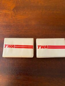 Vintage 1960's TWA(Trans World Airlines)Two Mini Travel Soap Bars