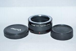 Vivitar-MC-Tele-Converter-2X-21-Lens-with-Caps-Olympus-O-OM-Mount-LN-135