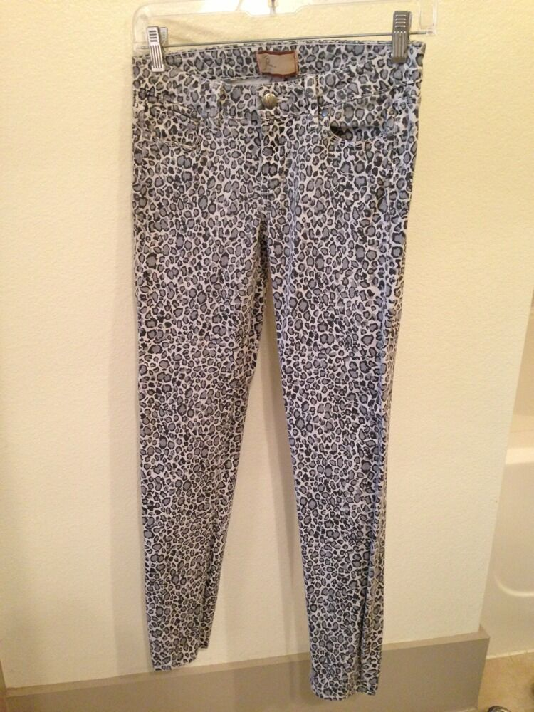 NWOT Paige (This Season ) Leopard Print Skinny Jeans Size 24