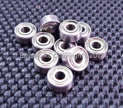 682ZZ 2x5x2.3 mm 50 Teile Doppel Metall Abgeschirmt Präzision Ball Lager 2 5