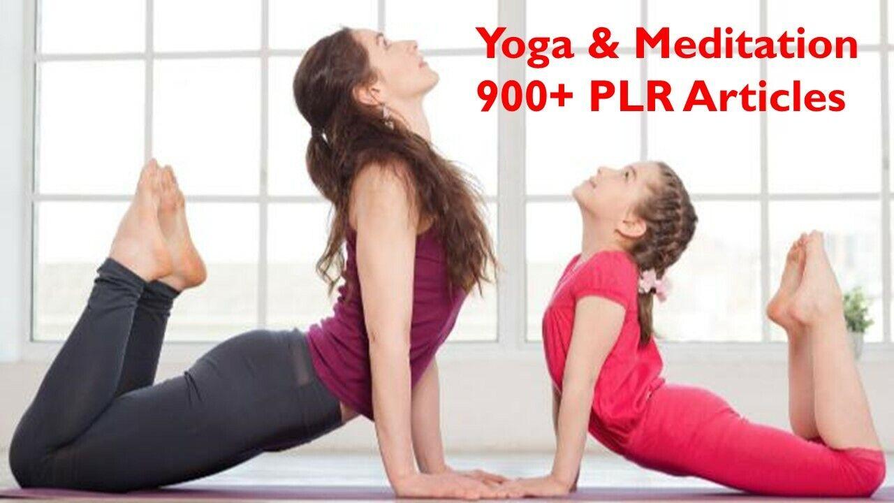 Yoga & Meditation 900+ PLR Articles with Bonus 10 Free Ebooks
