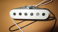 Vintage 1974 Fender Stratocaster Electric Guitar Pickup w/ Cover Staggered Poles