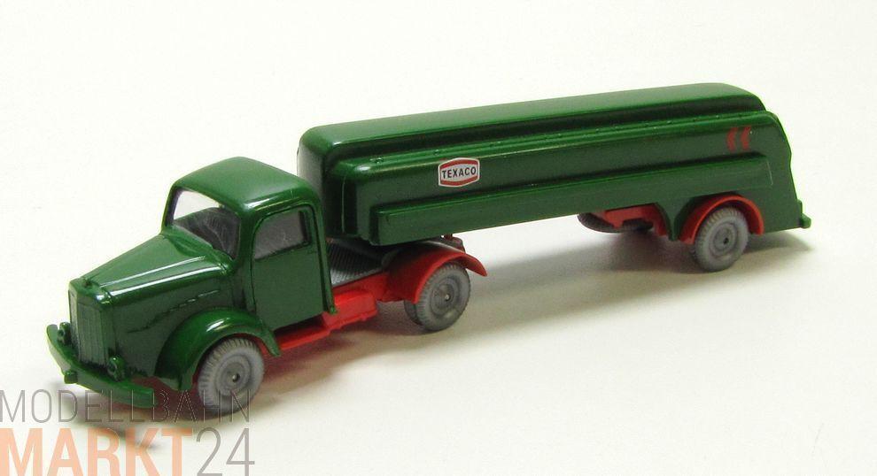 IMU Replika Mercedes 5000 Lkw Tanklastzug TEXACO dunkel green Spur H0 1 87