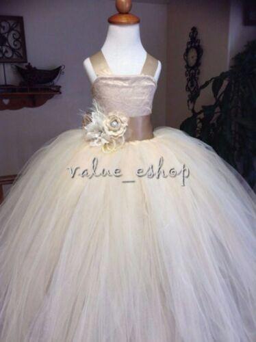 Kid Communion Party Prom Princess Pageant Bridesmaid Wedding Flower Girl Dress
