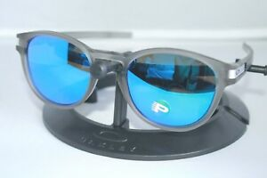 f7a8af6d9c Details about NEW Oakley Latch POLARIZED Sunglasses OO9265-08 Matte Grey W   Sapphire Iridium