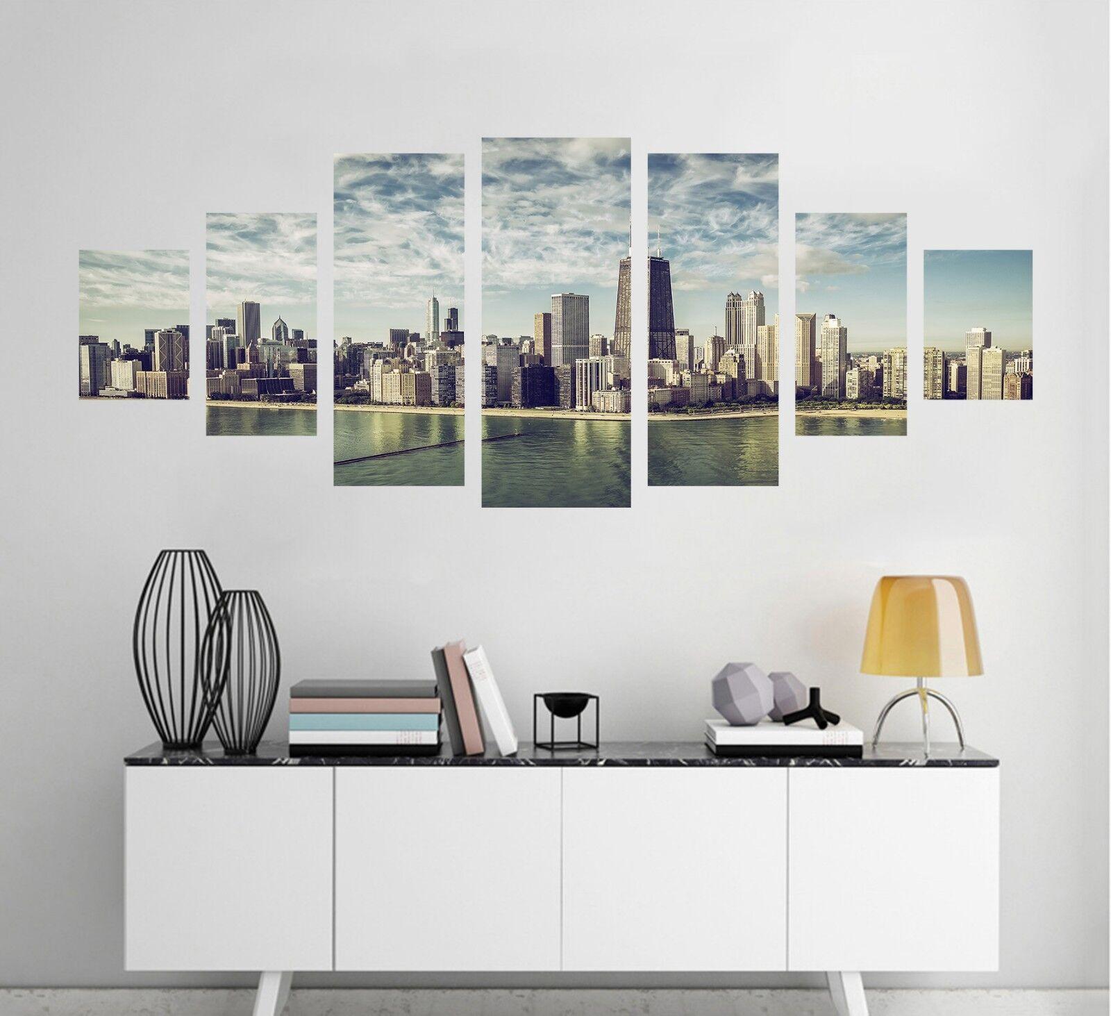3D Tall Build Sea Sky 123 Unframed Print Wall Paper Deco Indoor AJ Summer