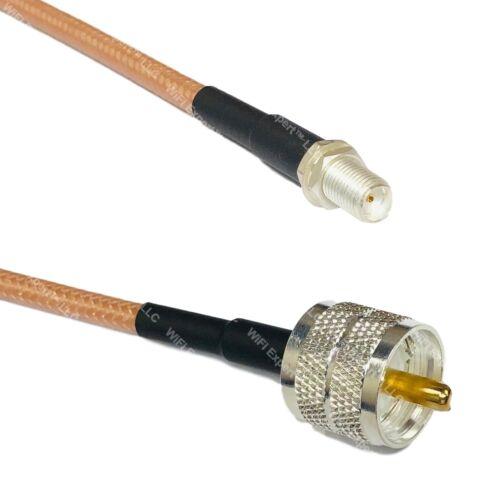 RG142 Silver SMA FEMALE to PL259 UHF Male Coax RF Cable USA Lot